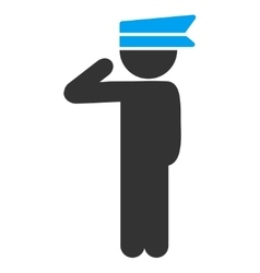 Child officer icon vector