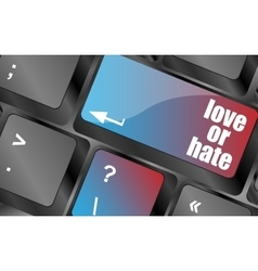 Love or hate relationships communication vector