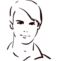 attractive young man vector image vector image
