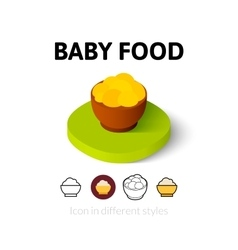 Baby food icon in different style vector
