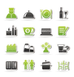 cafe and bar icons vector image vector image