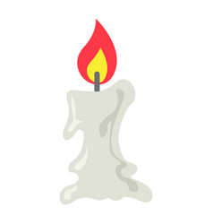 candle icon flat icon halloween and scary easter vector image