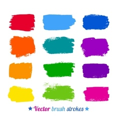 Colorful brush strokes vector