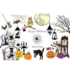 Colors Halloween Card vector image