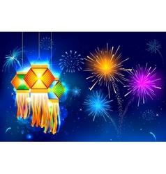 Diwali Hanging Lantern vector image