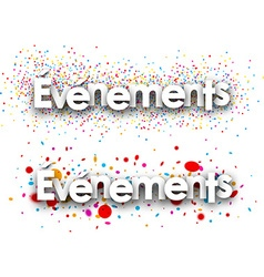 Events paper banners vector