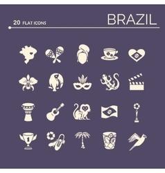 Flat icons brazil 6 vector