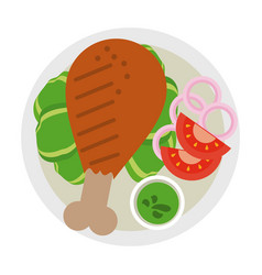 food icon image vector image vector image