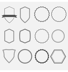 Frames and panels vector