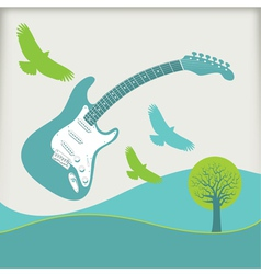 Guitar Fly landscape3 vector image