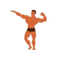 Gym fitness bodybuilder man vector image vector image