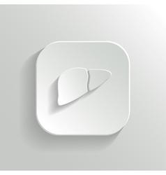 Liver icon - white app button vector image vector image