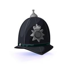 london policeman helmet vector image vector image