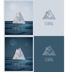 Low-poly iceberg vector
