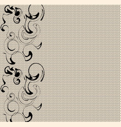 Modern lace abstract vector