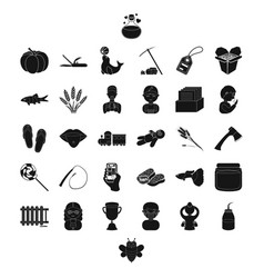 Profession food and other web icon in black style vector