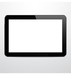 Realistic horizontal black tablet pc vector