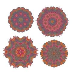 Round ornaments indian patterns mandalas vector