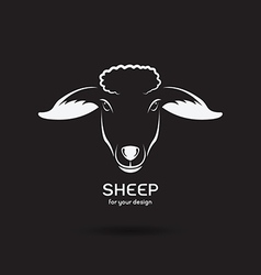 Sheep head design vector image vector image