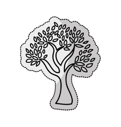 Tree plant silhouette isolated icon vector