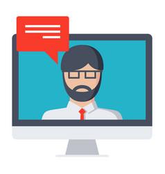 webinar icon vector image vector image