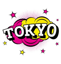 Tokyo comic text in pop art style vector