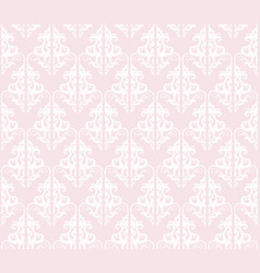 Damask seamless pattern background pastel pink vector