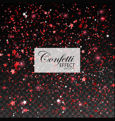 red glittering star dust vector image