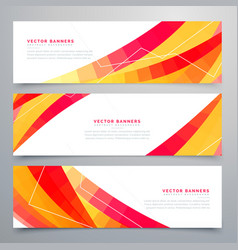 Awesome set of colorful abstract banners design vector