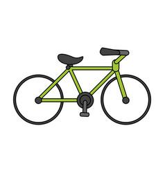 Color image cartoon sport bicycle transport vector