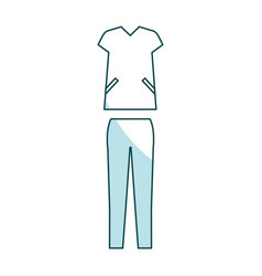 Surgeon suit isolated icon vector