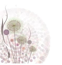 Gentle floral background vector image