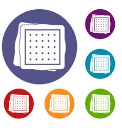 Biscuit icons set vector