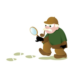 Funny Sherlock Holmes vector image