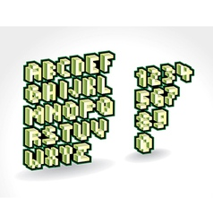 Alphabet AndNumbers Pixelized vector image