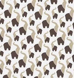 Elephant background vector image