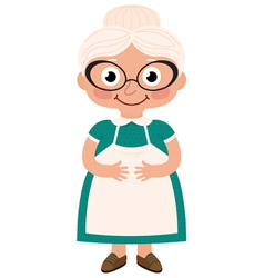 Grandmother housewife vector