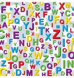 letter background vector image