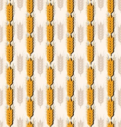 Pattern spikes of wheat vector