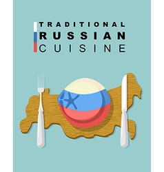 Traditional russian cuisine national dishes of vector