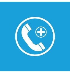 Call hospital icon white vector