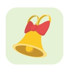 Bell cartoon icon vector image