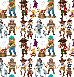 Men in different costume vector