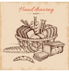 Bakery hand drawn vector