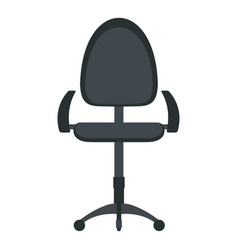 Black modern office chair icon isolated vector