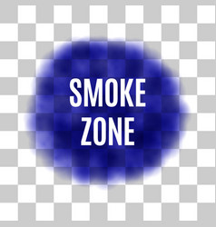 blue smoke for use on light background vector image