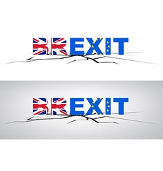 Brexit banner with flags vector