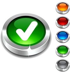 Check 3d button vector