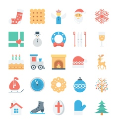 Christmas and easter colored icons 3 vector