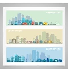 Cityscape set vector